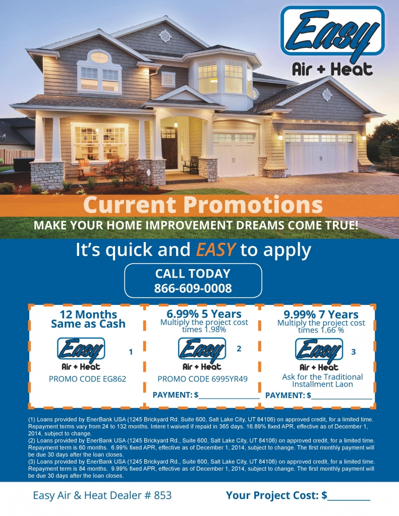 Easy Air Financing Specials